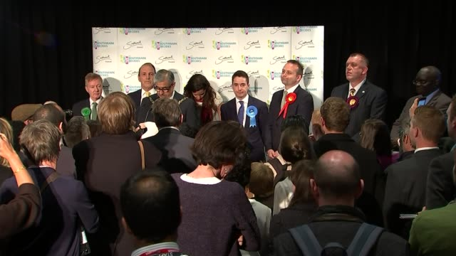 neil coyle received a death threat after supporting syria airstrike motion; lib / bermondsey and old southwark declaration: candidates on stage... - neil simon bildbanksvideor och videomaterial från bakom kulisserna