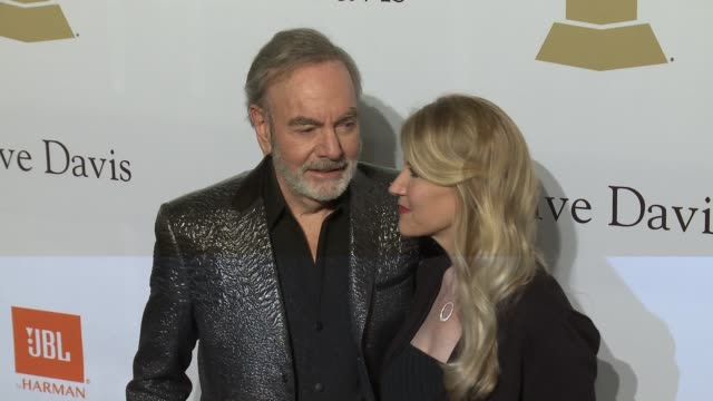 Neil Diamond and Katie McNeil at the 2017 PreGrammy Gala Honoring Debra L Lee With Grammy Salute To Industry Icons Award at The Beverly Hilton Hotel...