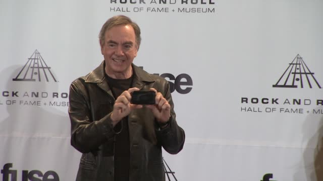 Neil Diamond at the 26th Annual Rock And Roll Hall Of Fame Induction Ceremony Press Room at New York NY