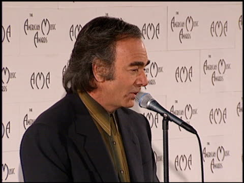 Neil Diamond at the American Music Awards at the Shrine Auditorium in Los Angeles California on January 29 1996