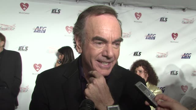 Neil Diamond on being honored his humble beginnings the secret of his success at the MusiCaresr 2009 Person Of The Year Tribute at Los Angeles CA