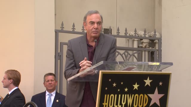 neil diamond on his bumpy rise in the music industry at neil diamond honored with star on the hollywood walk of fame on 8/10/12 in hollywood ca - bumpy stock videos & royalty-free footage