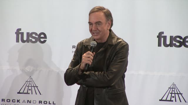 Neil Diamond says this is one of the moments in life not to be missed at the 26th Annual Rock And Roll Hall Of Fame Induction Ceremony Press Room at...
