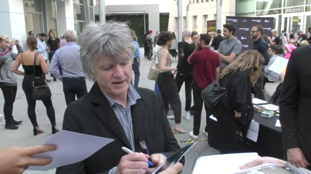 neil finn greets fans outside susanne bartsch on top premiere at arclight cinemas in hollywood in celebrity sightings in los angeles - arclight cinemas hollywood stock videos & royalty-free footage