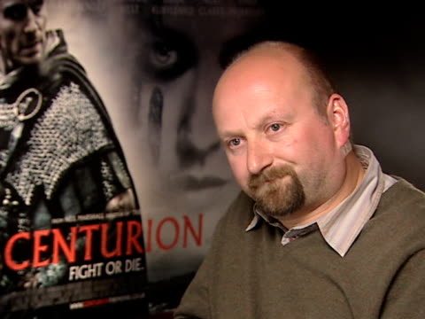neil marshall on how much fake blood he went through making the movie, on not using on a quote by ridley scott, on how he only uses if it's useful,... - リドリー・スコット点の映像素材/bロール