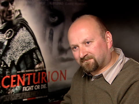 neil marshall on the film being described as a roman die hard apocaylpto on how it's similar to other films where soldiers get behind enemy lines at... - roman centurion stock videos and b-roll footage