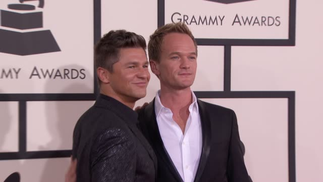 Neil Patrick Harris and David Burtka at 56th Annual Grammy Awards Arrivals at Staples Center on in Los Angeles California