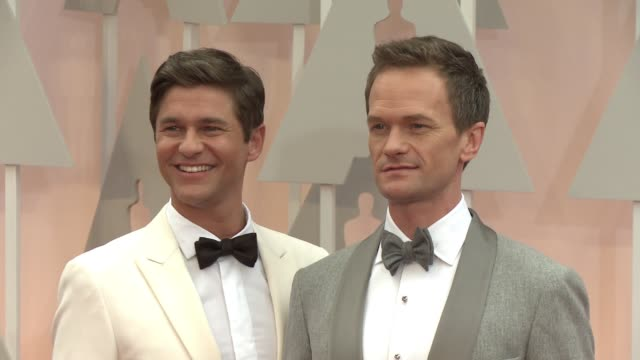 Neil Patrick Harris and David Burtka at 87th Annual Academy Awards Arrivals at Dolby Theatre on February 22 2015 in Hollywood California