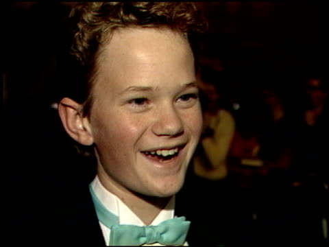 Neil Patrick Harris at the 1989 Golden Globe Awards at the Beverly Hilton in Beverly Hills California on January 28 1989