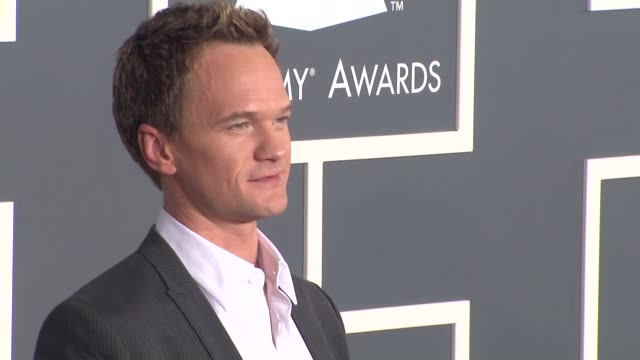 neil patrick harris at the 53rd grammy awards - arrivals part 3 at los angeles ca. - ニール・パトリック・ハリス点の映像素材/bロール