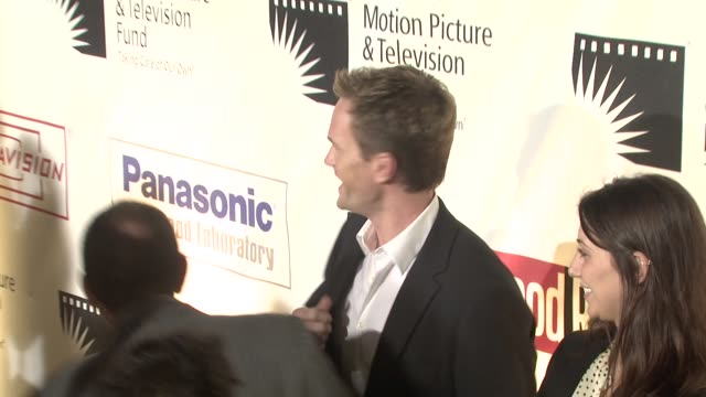 neil patrick harris at the 'a fine romance' to benefit the motion picture television fund at los angeles ca - motion picture & television fund stock videos & royalty-free footage