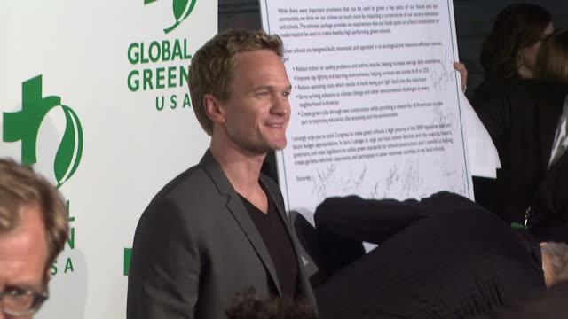 neil patrick harris at the global green usa's 6th annual preoscar party benefiting green schools at los angeles ca - pre party stock videos and b-roll footage