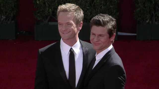Neil Patrick Harris David Burtka at the 61st Annual Primetime Emmy Awards Arrivals Part 2 at Los Angeles CA