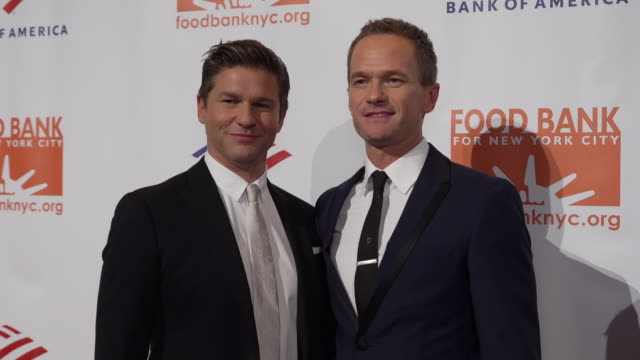 Neil Patrick Harris David Burtka at the Food Bank For New York City CanDo Awards