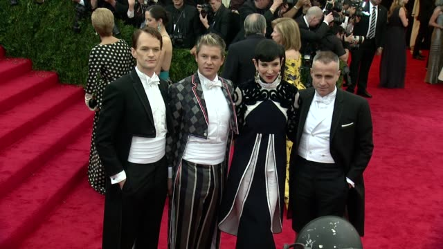 """neil patrick harris, david burtka, tom ford at """"charles james: beyond fashion"""" costume institute gala - arrivals at the metropolitan museum on may... - neil patrick harris stock videos & royalty-free footage"""