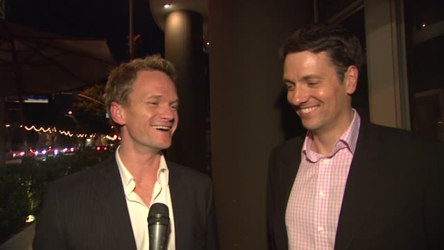 neil patrick harris guy hollingworth on the play at the the us premiere of 'the expert at the card table' directed by neil patrick harris and... - card table stock videos and b-roll footage