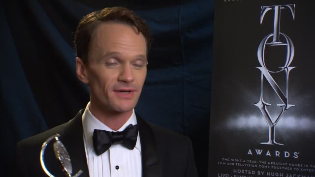 INTERVIEW Neil Patrick Harris in the Winner's Circle at 2014 Tony Awards at Radio City Music Hall on June 08 2014 in New York City