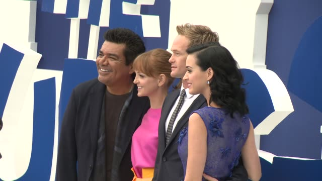 neil patrick harris katy perry jayma mays george lopez at 'smurfs 2' los angeles premiere on 7/28/2013 in westwood ca - jayma mays stock videos and b-roll footage