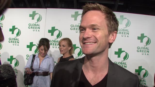 Neil Patrick Harris on attending tonight's event on being green and on what other's can do to support the cause at the Global Green USA's 6th Annual...