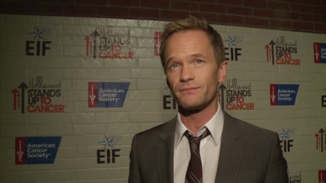 INTERVIEW Neil Patrick Harris on bringing awareness to cancer research at Hollywood Stands Up To Cancer on in Los Angeles California
