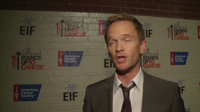 INTERVIEW Neil Patrick Harris on his personal experience with cancer at Hollywood Stands Up To Cancer on in Los Angeles California