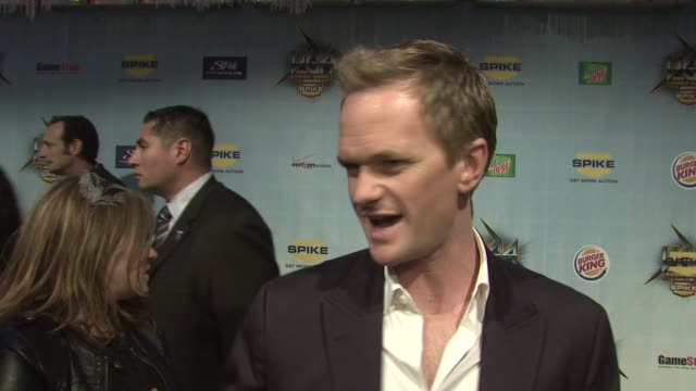 Neil Patrick Harris on presenting best independent game on playing Wii at the Spike TV's 2008 Video Game Awards at Los Angeles CA