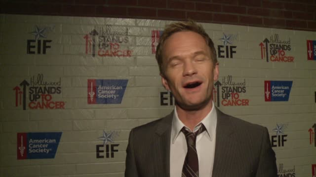 INTERVIEW Neil Patrick Harris on the event at Hollywood Stands Up To Cancer on in Los Angeles California