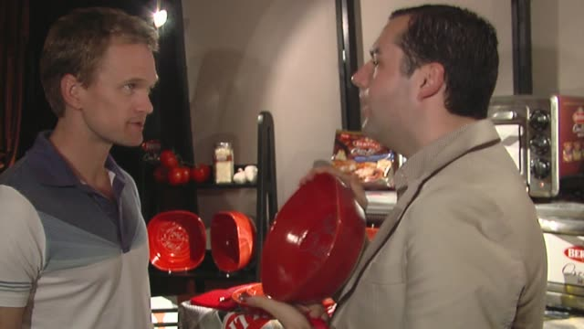neil patrick harris, ross mathews at the bertolli at the presenters gift lounge celebrating the primetime emmy awards hosted by aeg ehrlich ventures... - gift lounge stock videos & royalty-free footage
