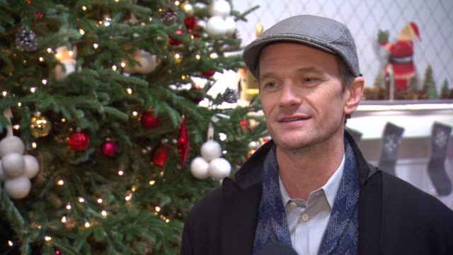 INTERVIEW Neil Patrick Harris talks about what he loves about Christmas and why he prefers real Christmas treest at Neil Patrick Harris Supports The...