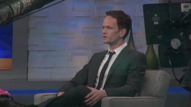 Neil Patrick Harris wearing red nail polish on the set of the Good Morning America show in Celebrity Sightings in New York