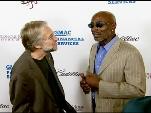 neil portnow and thelonious monk jr at the the thelonious monk institute of jazz and the recording academy® los angeles chapter partner to honor jazz... - herbie hancock stock videos & royalty-free footage