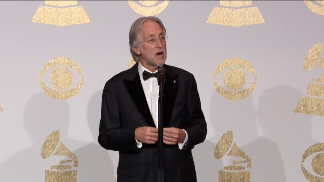 SPEECH Neil Portnow at the 59th Annual Grammy Awards Press Room at Staples Center on February 12 2017 in Los Angeles California