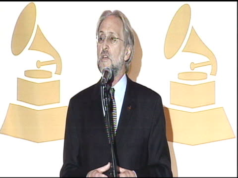 Neil Portnow on the Grammy Nomination selections and the event at the The GRAMMY Nominations Concert Live at Los Angeles CA