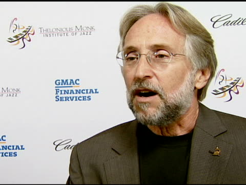 neil portnow on the recording academy and encouraging new jazz musicians through the competition at the the thelonious monk institute of jazz and the... - herbie hancock stock-videos und b-roll-filmmaterial
