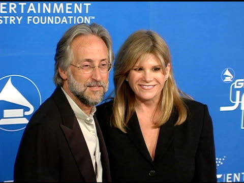 neil portnow president of the recording academy and lisa paulsen president and chief executive officer of the entertainment industry foundation at... - theater industry stock videos and b-roll footage