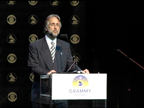 vidéos et rushes de neil portnow, president of the recording academy welcomes everyone to the 47th annual grammy award nominations at the 2004 grammy awards nominations... - henry fonda theatre