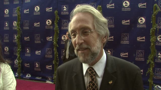 Neil Portnow Sir George Martin at the Grammy Foundation's Starry Night Benefit at Los Angeles CA