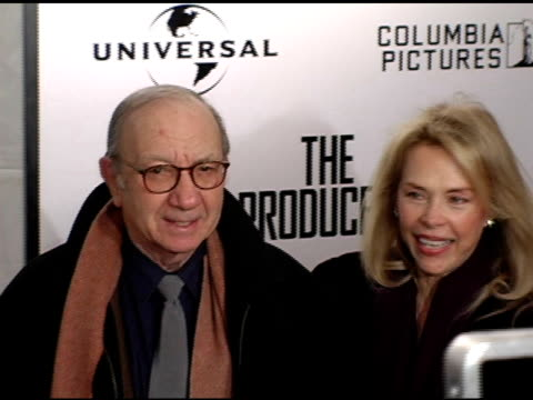 Neil Simon and Elaine Joyce at the New York Premiere of 'The Producers' at the Ziegfeld Theatre in New York New York on December 4 2005