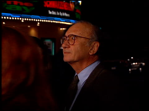 neil simon at the 'one fine day' premiere on december 7, 1996. - ニール サイモン点の映像素材/bロール