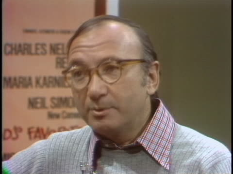neil simon comments on the challenges of writing humor that resonates with the audience during an interview on march 3, 1977. - neil simon bildbanksvideor och videomaterial från bakom kulisserna