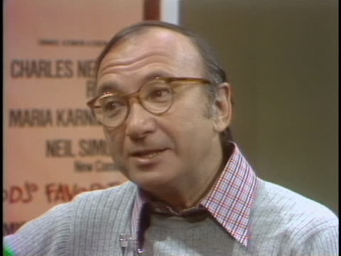 neil simon comments on why audiences identify with his play òthe odd coupleó during an interview on march 3, 1977. - scriptwriter stock videos & royalty-free footage