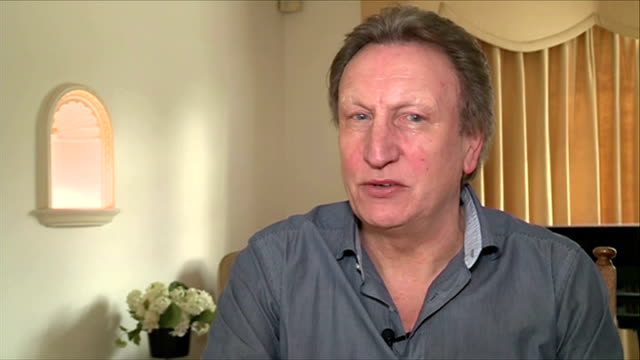 Neil Warnock reacts to losing job as manager of QPR ENGLAND London INT Neil Warnock interview SOT In football you always know you might lose your job...