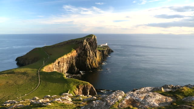 Neist Point Moonen Bay Neist lighthouse Skye Scotland