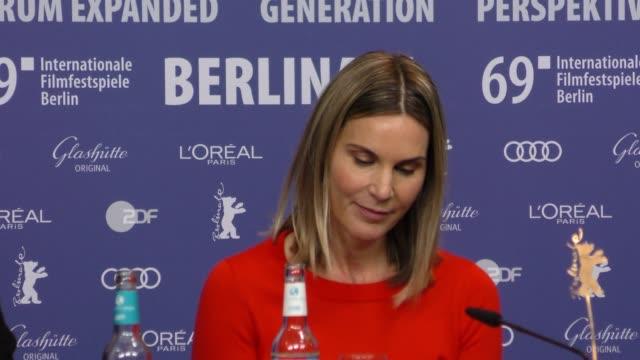 Nele MuellerStöfen attends 'All My Loving' press conference during the 69th Berlinale International Film Festival Berlin at Grand Hyatt Hotel on...