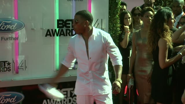 nelly at the 2014 bet awards on june 29 2014 in los angeles california - bet awards stock videos and b-roll footage