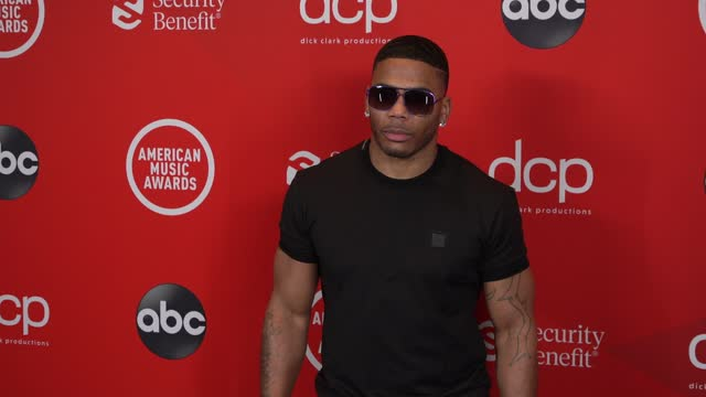 nelly at the 2020 american music awards at the microsoft theater on november 22, 2020 in los angeles, california. - microsoft theater los angeles stock videos & royalty-free footage