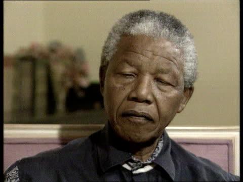 nelson mandela alleges election sabotage south africa johannesburg cms nelson mandela intvwd sot massive sabotage of distribution of ballot papers... - nelson mandela stock videos and b-roll footage