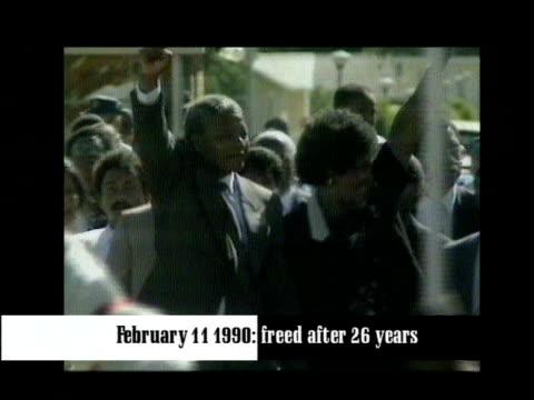 lib nelson mandela and then wife winnie mandela along after his release from prison - releasing stock videos and b-roll footage
