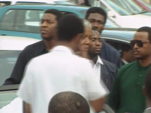 nelson mandela arrives at an anc rally in soweto - soweto stock videos and b-roll footage