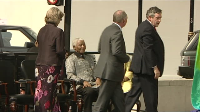 nelson mandela at the unveiling of his statue in parliament square - monument stock videos & royalty-free footage